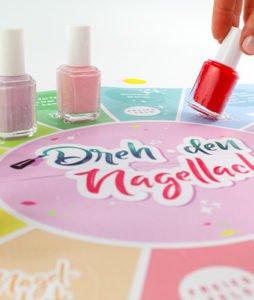 Beauty Party Spiel - Nagellack auf Spielvorlage verteilen