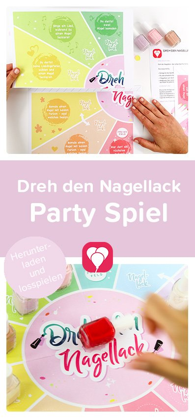 Beauty Party Spiel - Pinterest Pin