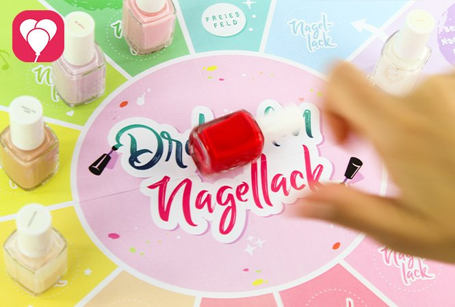 Beauty Party Spiel - Dreh den Nagellack
