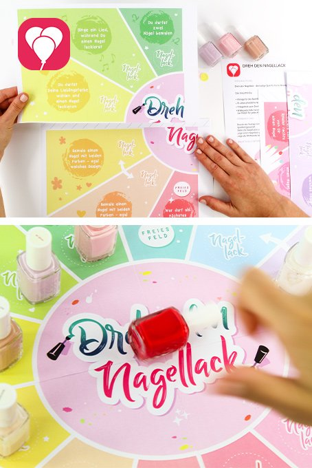 Beauty Party Spiel - Dreh den Nagellack balloonas