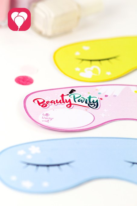 Beauty Party DIY Einladungskarte