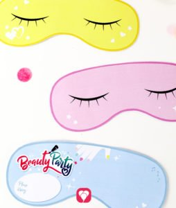 Beauty Party Invitation - sleeping masks