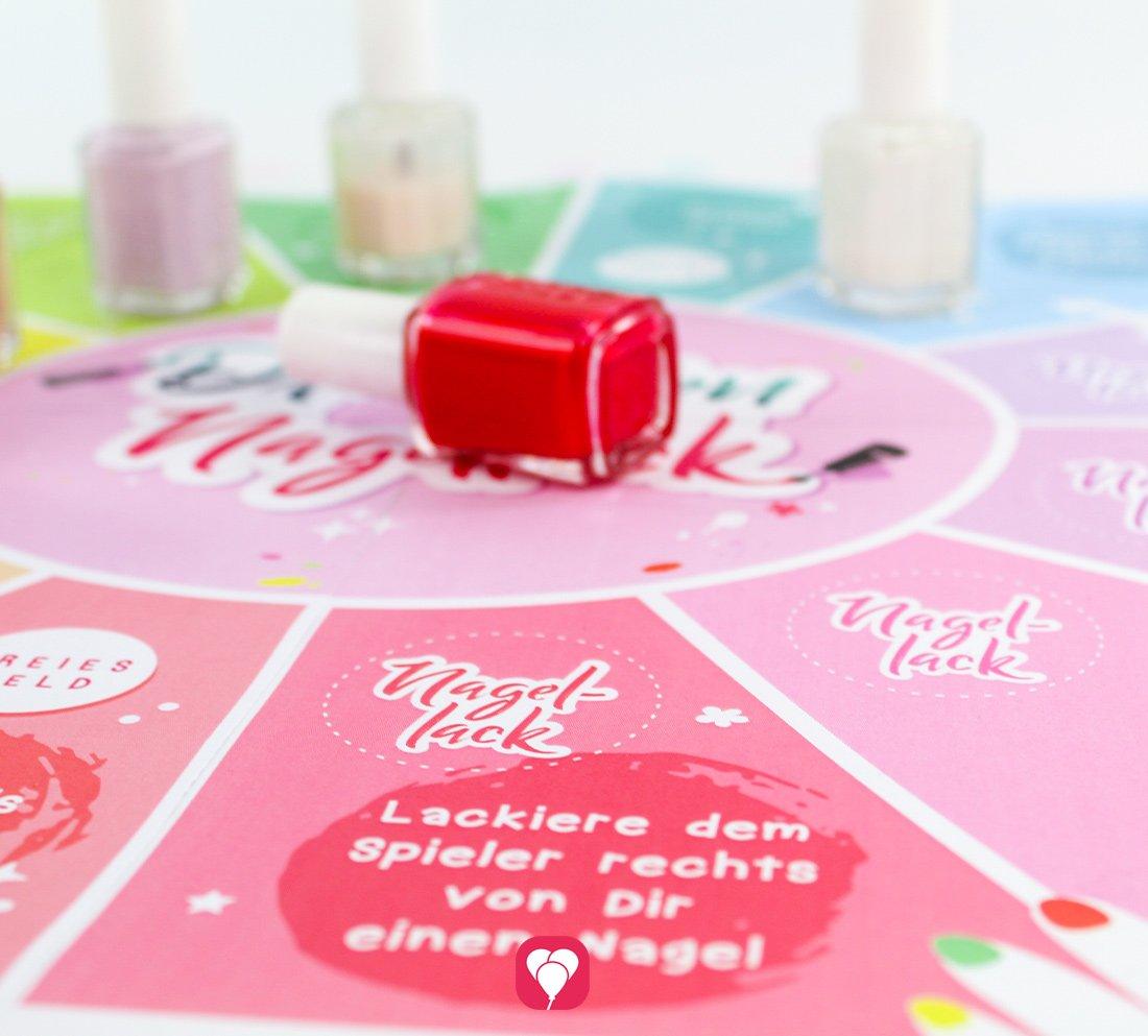 Party Spiel: Nagellack drehen