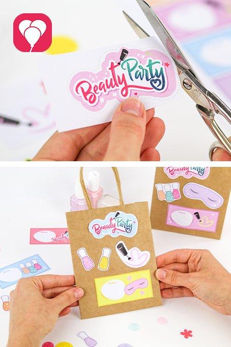Beauty Party Geschenksticker