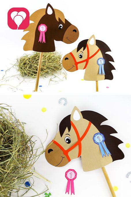 Pferde Schatzsuche - Steckenpferde