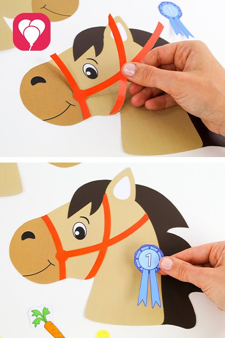 Pferde Schatzsuche - Sticker für Steckenpferd