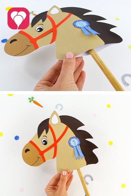 Pferde Schatzsuche - Steckenpferd Stiel