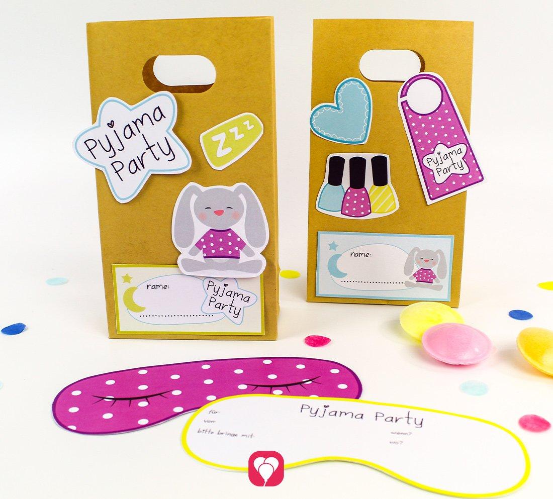 Pyjama Party Geburtstag Set - Basic