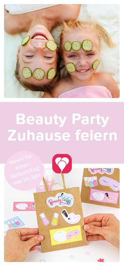 Beauty Party Zuhause feiern - balloonas Pinterest Pin