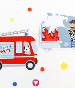 Feuerwehr Karte - beide Seiten