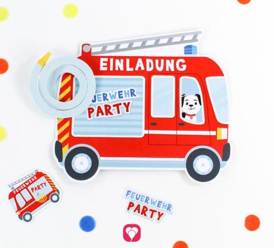 Feuerwehr Einladung - balloonas