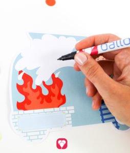 Feuerwehr Karte - Text schreiben