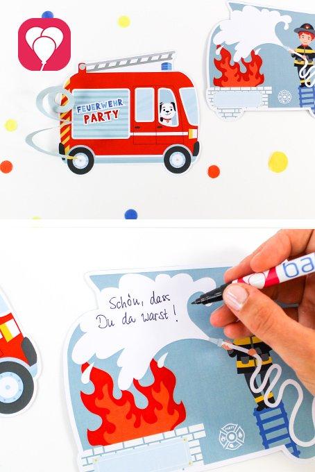 Feuerwehr Geburtstag - Karte, Gutschein, Grußkarte