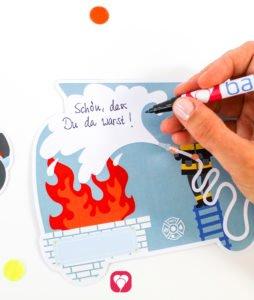 Feuerwehr Karte - individueller Text