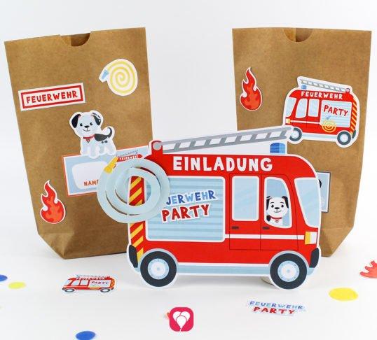 Feuerwehr Geburtstag Set - balloonas