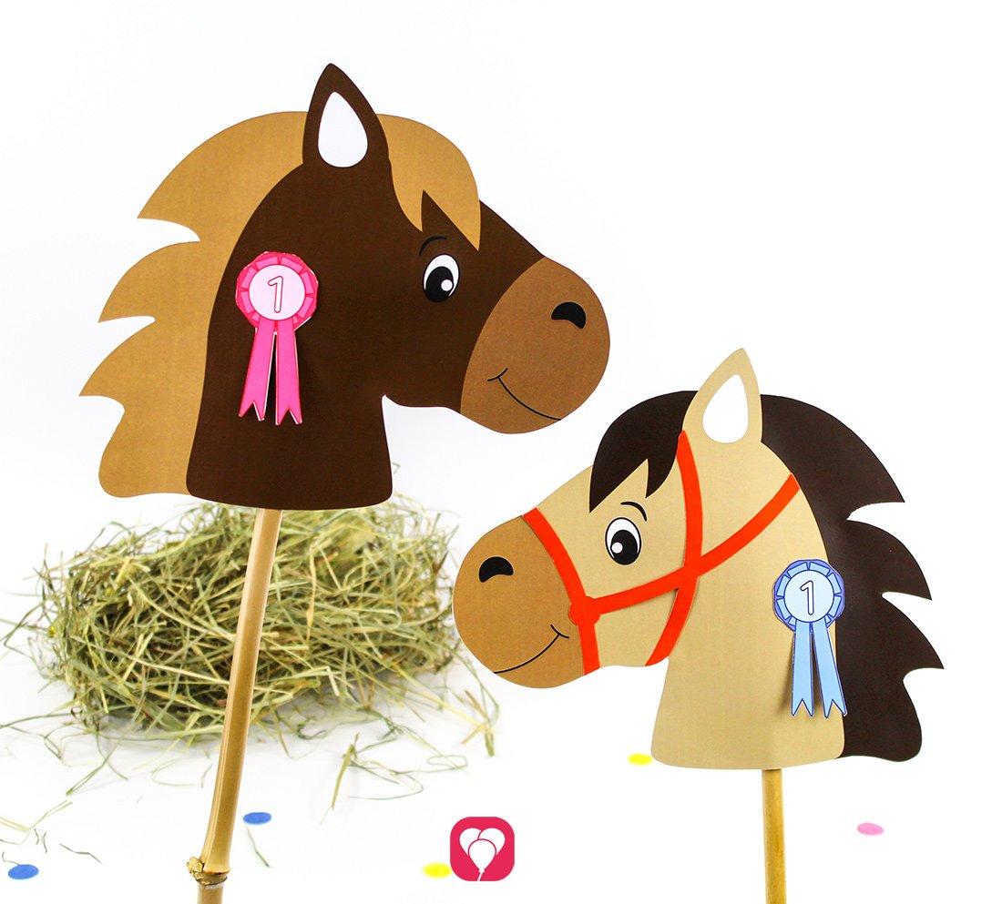 Pferde Schatzsuche inklusive Steckenpferd basteln
