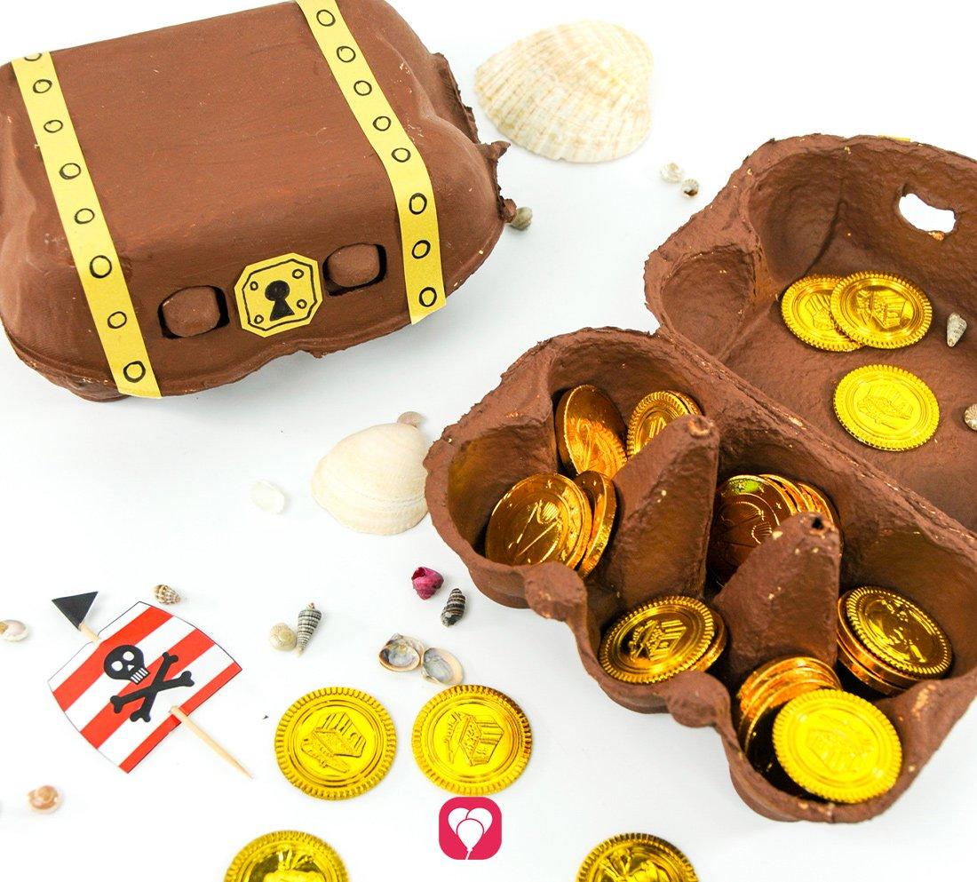 Upcycling für kleine Piraten: DIY Schatztruhe