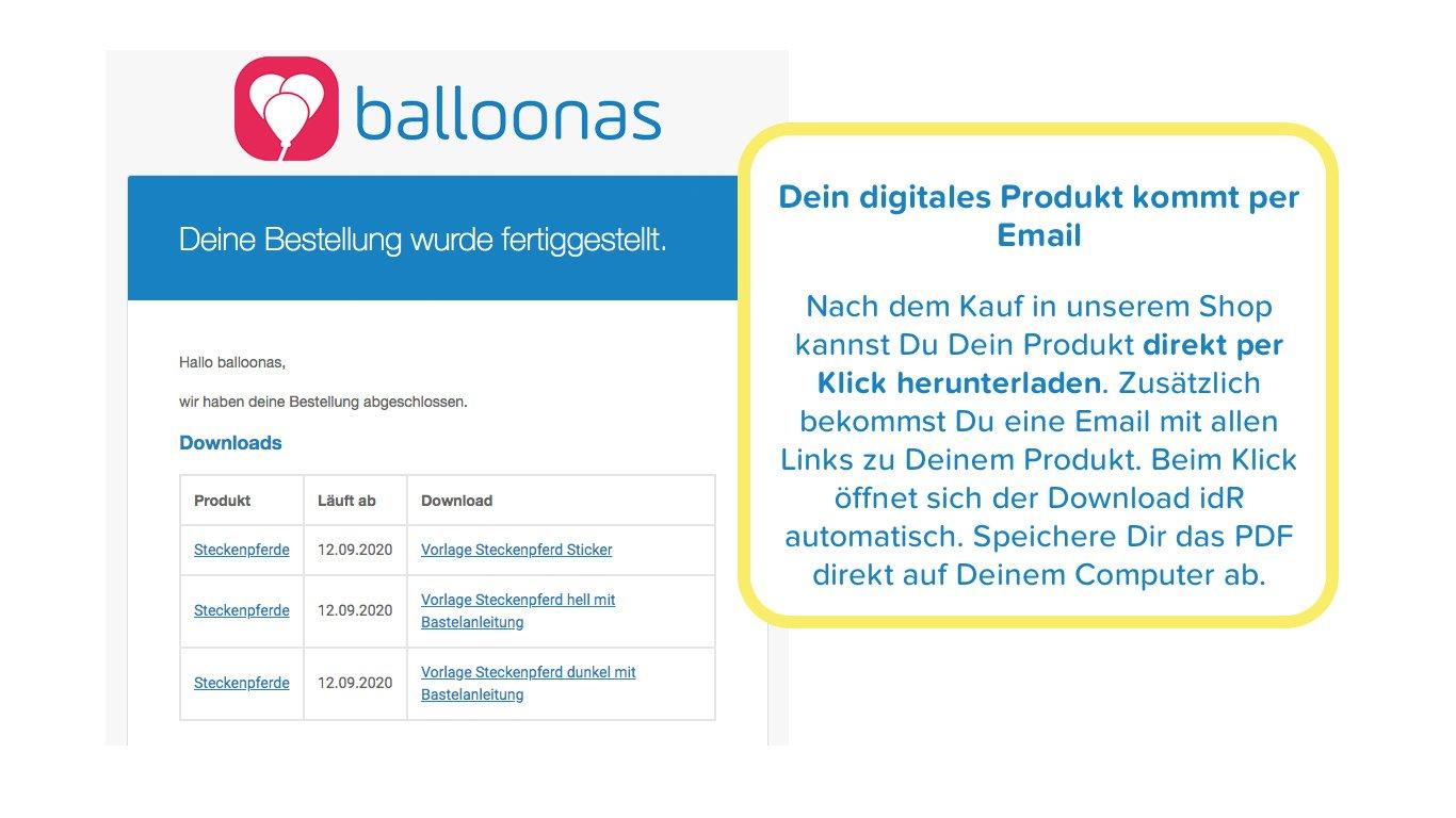 Digitale Produkte per Email - Basteltipps