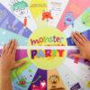 Monster Flaschendrehen - Spielfeld kleben