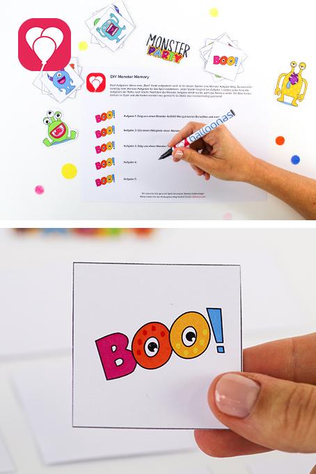 DIY Monster Memory - Boo Karten
