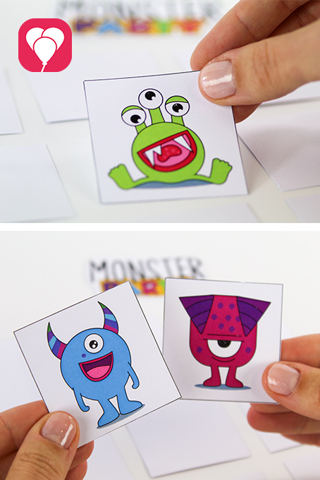 DIY Monster Memory basteln - Karten aufdecken
