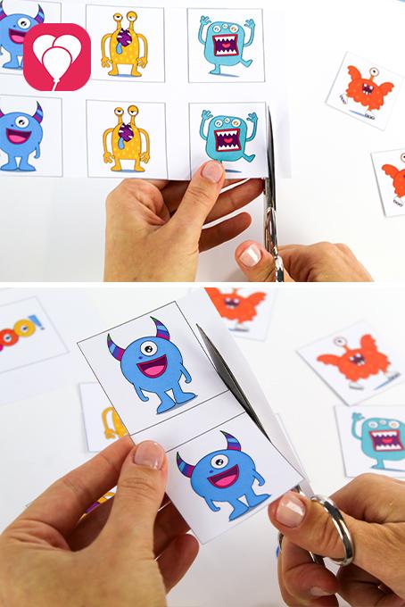 DIY Monster Memory basteln - ausschneiden