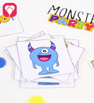 DIY Monster Memory - balloonas