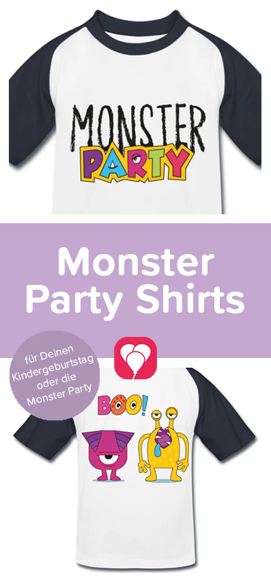 Monster Party Shirts - balloonas