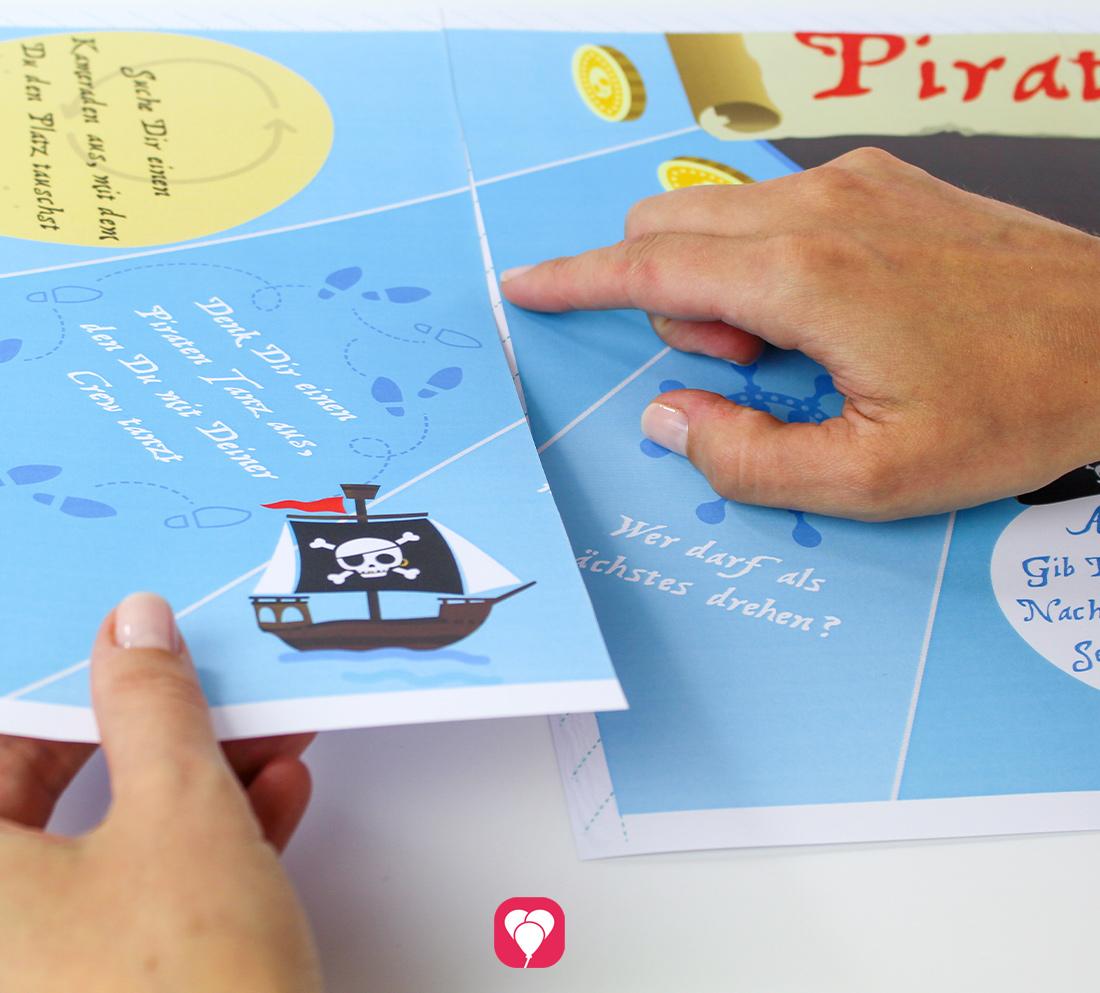 Piraten Flaschendrehen als Partyspiel für Deine Piraten