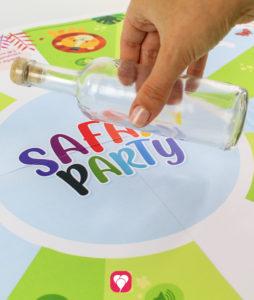 Safari Flaschendrehen - Flasche in der Mitte platzieren