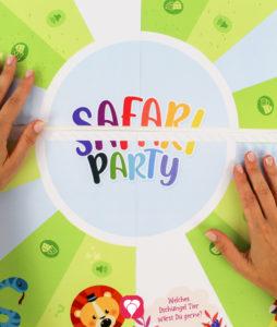Safari Flaschendrehen - Spielfeld zusammenkleben