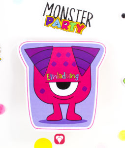 Monster Einladung - balloonas