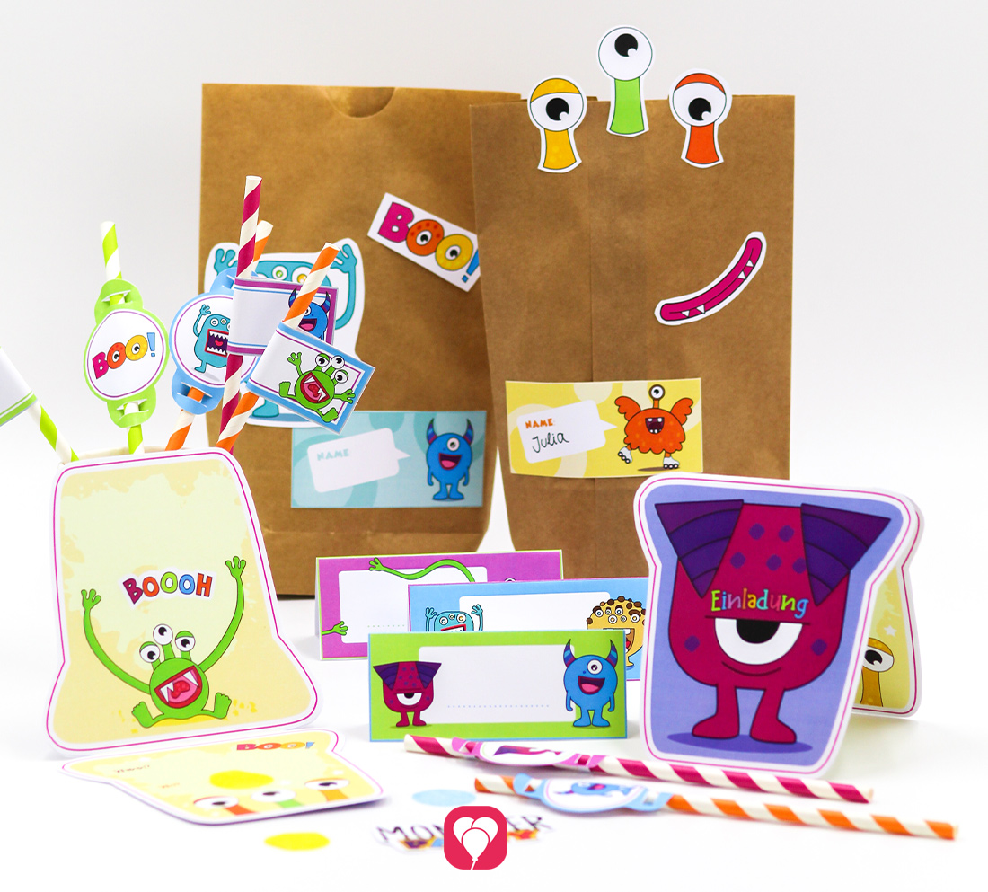 Monster Geburtstagspaket - Basic