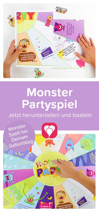 Monster Partyspiel - balloonas Pinterest Pin