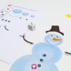 Schneemann Würfeln - Schneemann und Spielplan