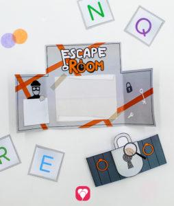 Escape Room Einladung zum Aufklappen