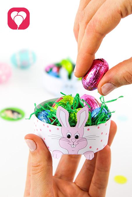 Ostern mit Kindern -Mini Osternest basteln - balloonas