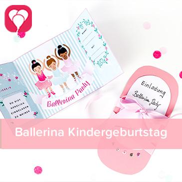 Ballerina Kindergeburtstag - balloonas